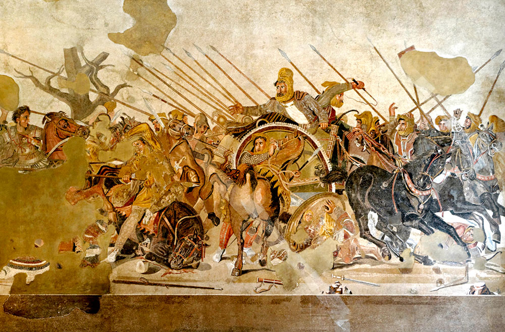 399 : Trial and death of Socrates in Rome<br/>390 : Sack of Rome by the Gauls<br/>336-325 : Alexander's Oriental campaigns